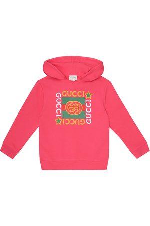 Gucci Sweat-shirt à capuche en coton à logo