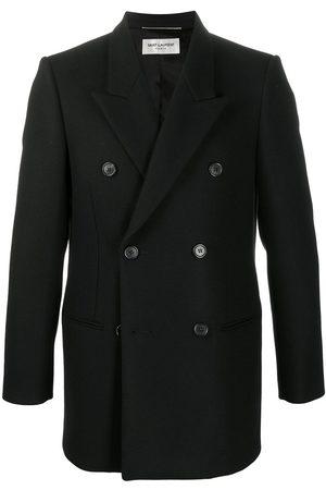 Saint Laurent Peak labels double-breasted jacket