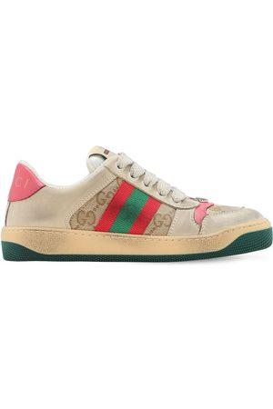 """Gucci Sneakers En Toile Avec Détail Web """"gg"""""""