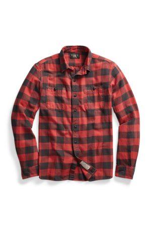 RRL Homme Chemises - Chemise workwear en sergé écossais