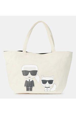 Karl Lagerfeld Sac cabas Ikonik Karl & Choupette toile de coton