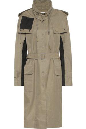 Low Classic Trench-coat à capuche en coton mélangé