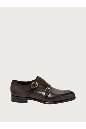 Salvatore Ferragamo Hommes Chaussure à double boucle Brun Taille 41.5