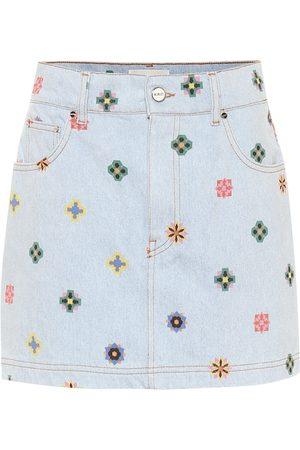 Kirin Mini-jupe imprimée en jean