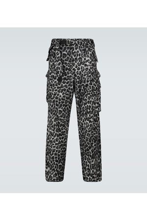 SACAI Homme Cargos - Pantalon cargo Leopard Shrivel en laine