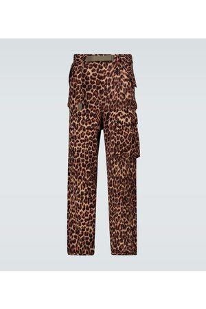 SACAI Pantalon cargo Leopard Shrivel en laine
