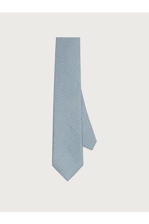 Salvatore Ferragamo Hommes Cravate en soie imprimé Gancini