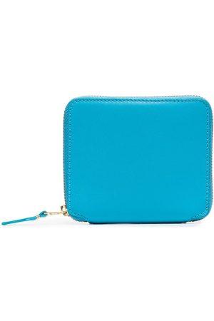 Comme des Garçons Blue zip-around leather wallet