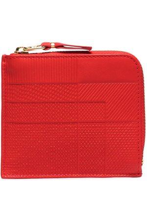 Comme des Garçons Red Intersection half-zip leather wallet