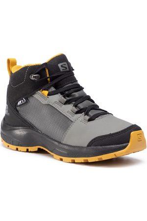 Salomon Fille Chaussures de randonnée - Chaussures de trekking - Outward Cswp J 409722 09 W0 Castor Gray/Black/Arrowwood