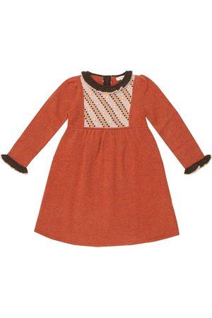 Caramel Bébé – Robe Nightingale brodée en laine mérinos