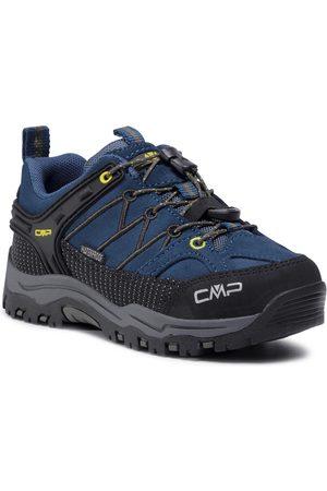 CMP Fille Chaussures basses - Chaussures de trekking - Kids Rigel Low Trekking Shoes Wp 3Q13244 Blue Ink/Yellow 10MF