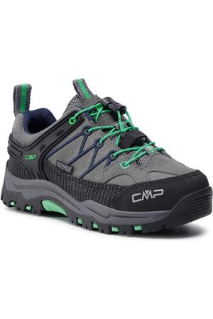 CMP Chaussures de trekking - Kids Rigel Low Trekking Shoes Wp 3Q13244 Graffite/Verde Fluo 29UF