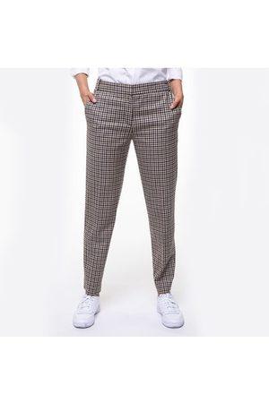 Trench and coat Femme Pantalons classiques - Pantalon cigarette en laine à carreaux vichy CHAMBRY