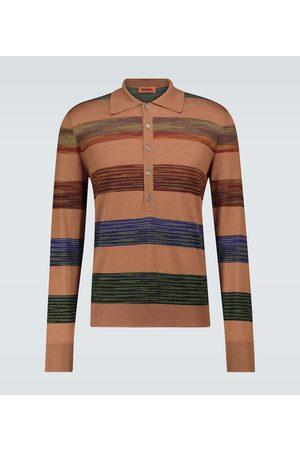 Missoni Polo à manches longues en laine mélangée