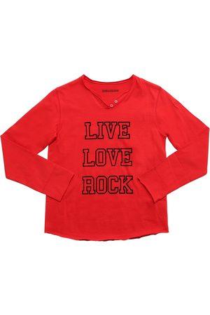 Zadig & Voltaire T-shirt En Jersey De Coton Floqué