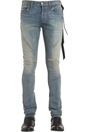 SEIGEKI Jean En Denim Délavé Bleu Coupe Skinny 16cm