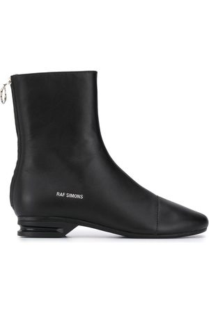 RAF SIMONS Runner leather ankle boots