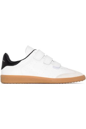 Isabel Marant White Beth Velcro leather sneakers