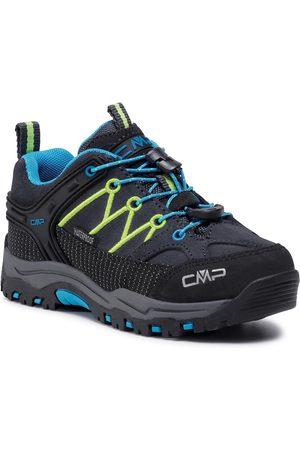 CMP Chaussures de trekking - Kids Rigel Low Trekking Shoes Wp 3Q13244 Antracite/Yellow Fluo 34UF