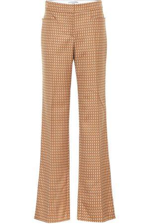 Stella McCartney Pantalon Claudia à taille haute en laine