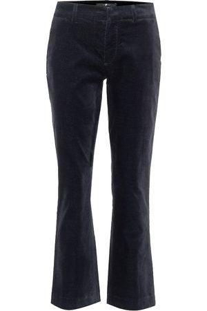 7 for all Mankind Pantalon évasé à taille mi-haute en velours