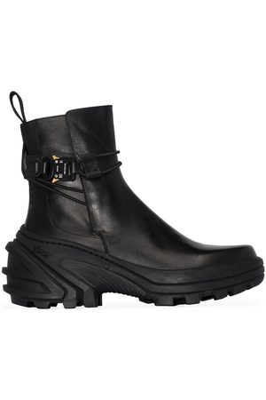 1017 ALYX 9SM Black buckled leather Chelsea boots