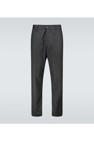 BARENA Pantalon rayé en laine mélangée