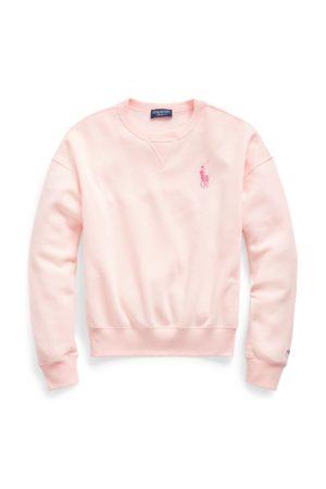 Ralph Lauren Sweat col rond Pink Pony molleton