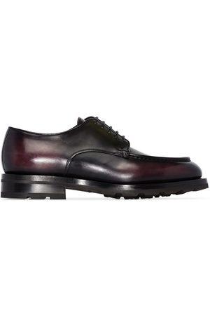 santoni Homme Chaussures à lacets - Brown leather lace-up shoes