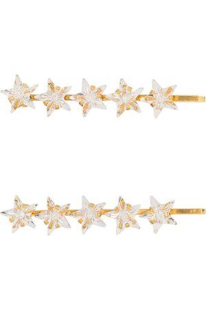 Jennifer Behr Gold tone Martine crystal hairpin