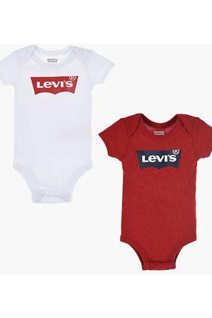 Levi's Bébé Baby 2 Pack Batwing Bodysuit / White