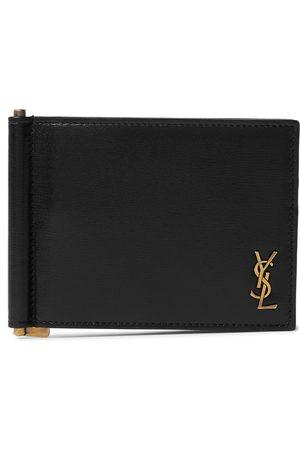 Saint Laurent Logo-Appliquéd Leather Billfold Wallet with Money Clip
