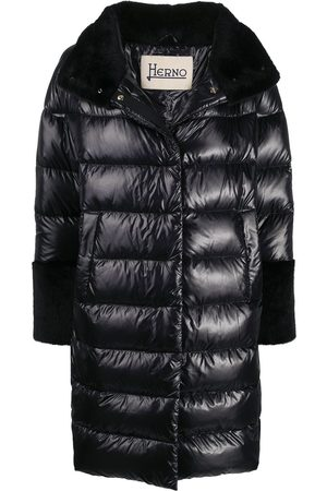 HERNO Faux-fur trim padded coat