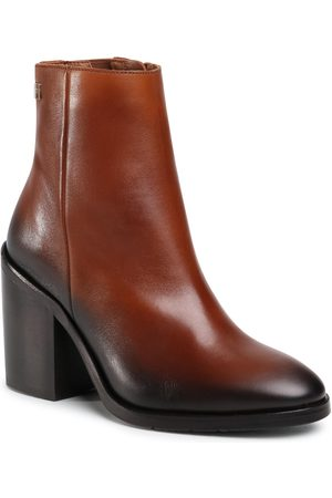 Tommy Hilfiger Bottines - Shaded Leather High Heel Boot FW0FW05164 Pumpkin Paradise GOW