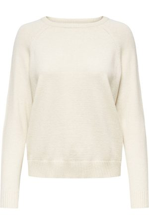 Only Couleur Unie Pull En Maille Women White