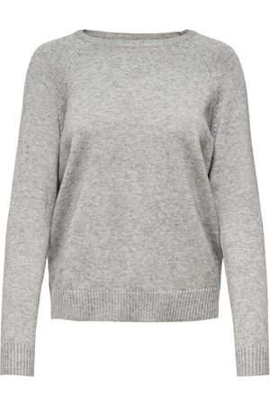 Only Couleur Unie Pull En Maille Women Grey