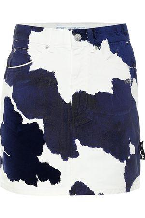 OFF-WHITE Mini-jupe imprimée en jean