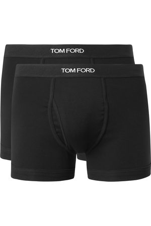 Tom Ford Two-Pack Mélange Stretch-Cotton Boxer Briefs