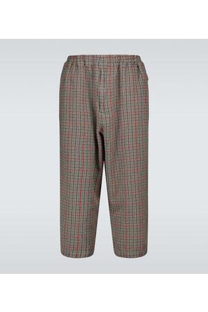 UNDERCOVER Pantalon en laine à carreaux