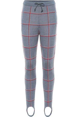 UNDERCOVER Pantalon fuseau en laine à carreaux