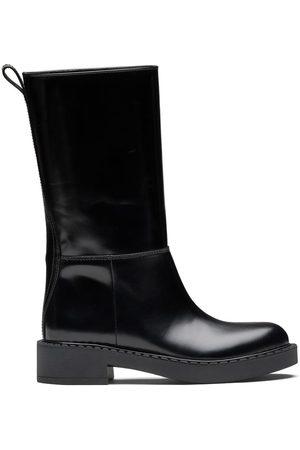 Prada Brushed mid-calf boots