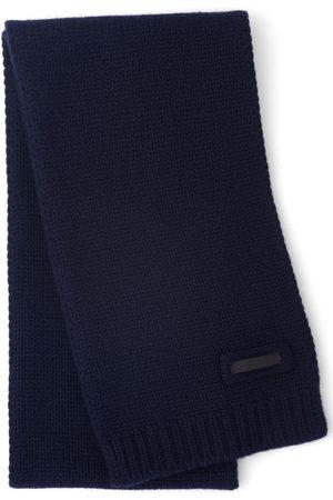 Prada Logo patch cashmere scarf