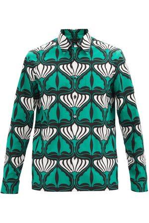 Prada Homme Chemises - Chemise en coton à imprimé lys