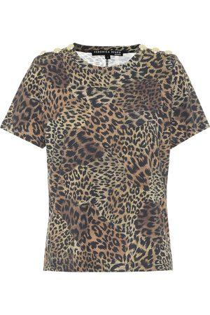 VERONICA BEARD T-shirt Carla en coton à motif léopard