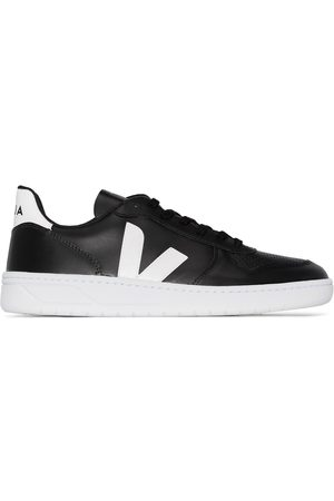 Veja Black V-10 leather sneakers