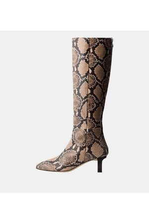 Aeyde Bottes Cicely cuir effet serpent