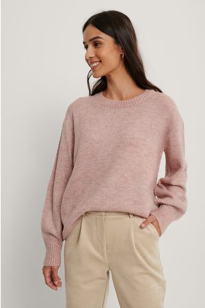 NA-KD Pull Tricoté Col Rond - Pink
