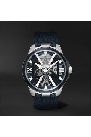 Ulysse Nardin Homme Montres - Skeleton X Hand-Wound 42mm Titanium and Rubber Watch