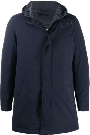 HERNO Layered hooded short coat
